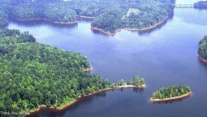 Falls Lake in North Carolina